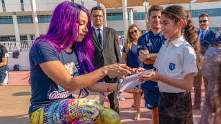 Sasha Banks visits the UAE to announce Special Olympics World Games partnership