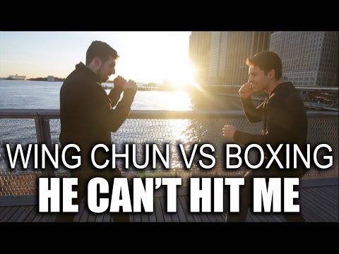 Wing Chun Vs Boxing: He CAN'T Hit Me?!! Reaction Time Drill