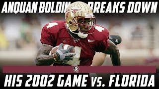 Former Florida State Star Anquan Boldin Breaks Down His Best Game Against Florida | Stadium