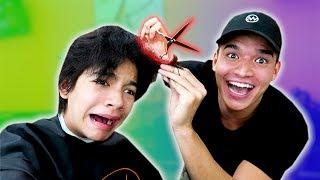 Little Bro Let Me CUT HIS HAIR OFF!!