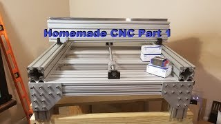 Homemade DIY CNC build part 1 (Building the Fame)