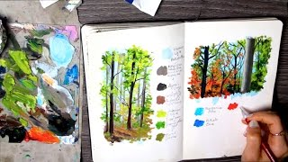 Nature Sketches, My palettes, Art rambles | Sketchbook Sunday Episode 18