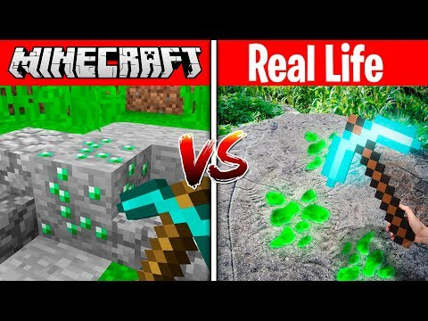 MINECRAFT EMERALD IN REAL LIFE MINECRAFT vs REAL LIFE