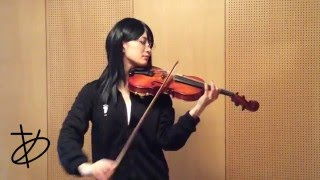"""【ヲタリスト Ayasa】バイオリンで""""ハイキュー""""「上」を弾いてみた"""