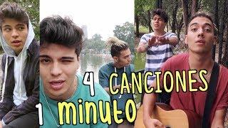 4 CANCIONES EN 1 MINUTO (FT. SAAK) | Sebastián Villalobos