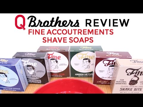 Q Brothers Review Fine Accoutrements Shave Soaps