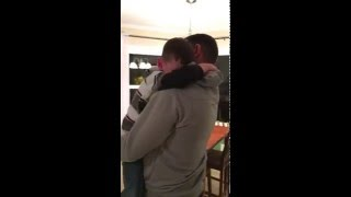 Navy Dad gives his son the most wonderful surprise!