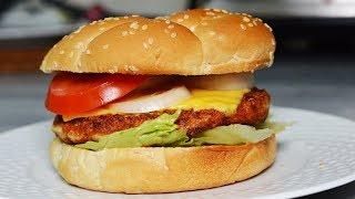 برگر مرغ  خانگی (چیکن برگر) با روشی بسیار خوشمزه تر و سالمتر از برگرهای بیرون | Chicken Burger