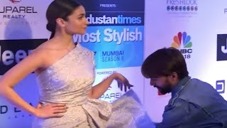 Alia Bhatt hires a man just to handle her dress on red carpet | Funny Video