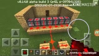 Minecraft PE 0.14.0 Arrow machine gun trap
