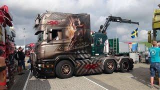 Scania v8 R730 Longline xXx - Michael kramer / Stena Stål - Truckstar festival TT Assen 2016