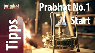 Wie wird der Petroleumkocher Prabhat No.1 gestartet? - Jurtenland