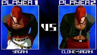 kof 2016 gameplay mugen iori yagami vs clone iori yagami