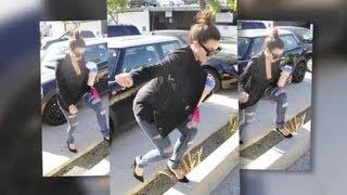 Kim Kardashian Trips Up as She Heads to the Hair Salon - Splash News | Splash News TV