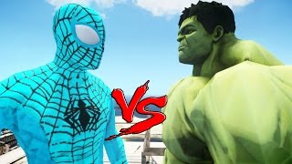 The Amazing Blue Spiderman vs The Incredible Hulk