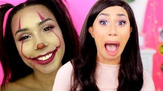 REACTING TO MY LITTLE SISTERS YOUTUBE CHANNEL | MyLifeAsEva