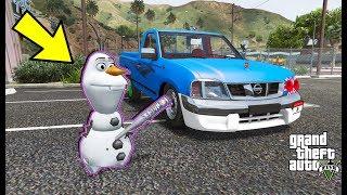 فيلم - الطفل الثلجي يدمر السيارات  ||  GTA V Child Snow