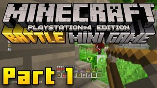 Minecraft PS4 Battle Mode Gameplay Part 1 - SURVIVAL GAMES! (Minecraft PS3, PS4, Xbox, Wii U)