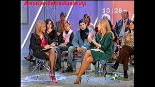 """ELSA DI GATI e CINZIA TANI """"gambe e calze"""" da """"Cominciamo bene"""" 2004"""