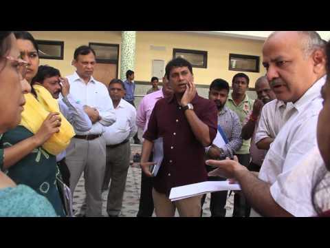 Education Minister inspecting Delhi Govt. Schools.