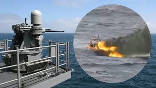 US Navy Obliterates Attacking Fast-Boat – Mk 38 MOD 2 25mm Gun System Live-Fire Exercise