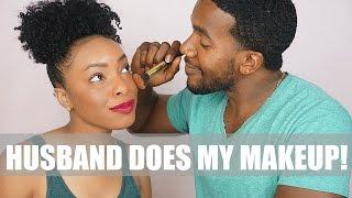 Hilarious Husband Does My Makeup Tag!! | Alyra TV