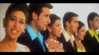 Salman Khan, Monish Behl, Saif, Sonali, Tabu & Karishma in Hum Saath Saath Hain
