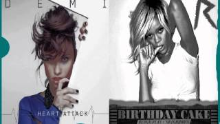Demi Lovato Vs. Rihanna Ft. Chris Brown - Cake Attack [MASH-UP] (Pitched)