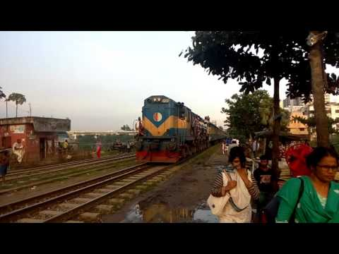 776 Sirajganj Express spotted at FDC Rail crossing.