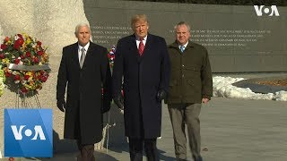 President Trump and VP Pence Visit Martin Luther King Jr. Memorial