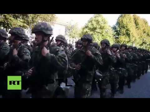 Switzerland: Swiss troops parade for conclusion of doomsday military drills