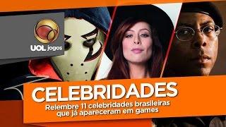 Relembre 11 celebridades brasileiras que já apareceram em games