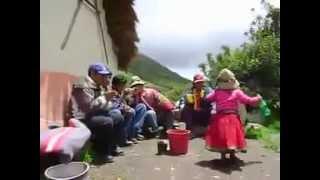 niña boliviana bailando muy bonito