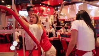 European Pongers at Heart Attack Grill