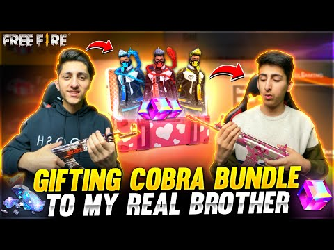 Gifting Cobra Bundle To My Real Brother 20 000 Diamond Spin Crying Moment Garena Free Fire