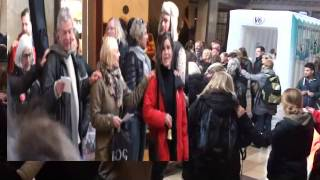 Lockout Flashmob Århus Banegård