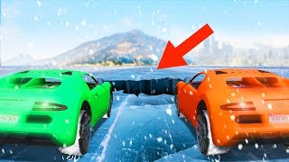 WORLDS MOST DANGEROUS OFFROAD ICE RACE! (GTA 5 Funny Moments)