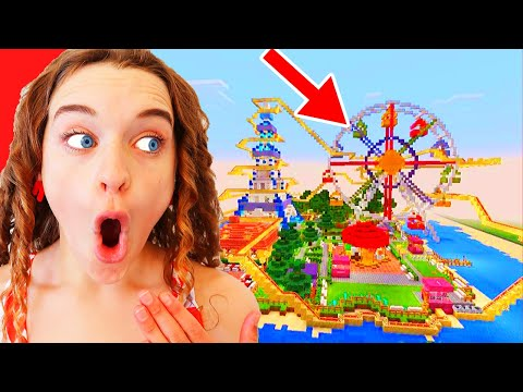 WHO BUILDS THE BEST THEME PARK Minecraft Gaming w The Norris Nuts