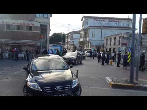 Cumhurbaşkanımız Recep Tayyip Erdoğan'ın konvoyu.Eyüpsultan'dan çıkışı.HD