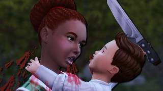 TODDLER STABS NANNY TO DEATH - The Sims 4: Problem Child #7