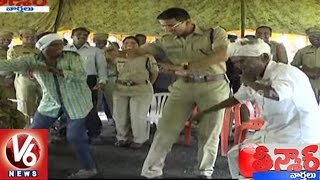Adilabad SP Vikram Jeet Duggal Performs Dance with Villagers | Teenmaar News | V6 News