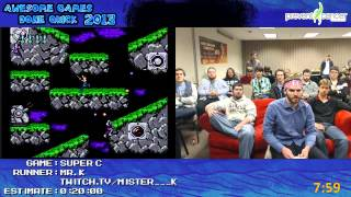 Super C - SPEED RUN in 0:14:23 by Mr K at Awesome Games Done Quick 2013 [NES]