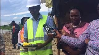 Waziri wa Elimu, Sayansi na Teknolojia Prof  Joyce Ndalichako akikagua ujenzi wa madarasa Mloganzila