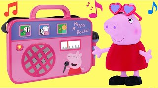 Nick Jr. PEPPA PIG Boom Box, Music Sound Song George Pig Singing Flower Garden Play Toy Set / TUYC