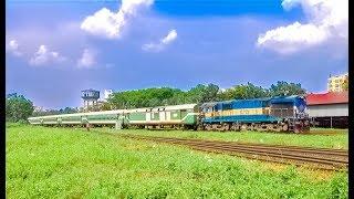 Good Looking Luxurious Silk City Express Train Of Bangladesh Railway