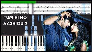 ♫ Tum Hi Ho (Aashiqui 2) || Piano Tutorial + Music Sheet + MIDI with Lyrics
