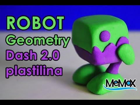 Tutorial Robot GeometryDash figura de plastilina Craf arcilla plasticine clay polymer