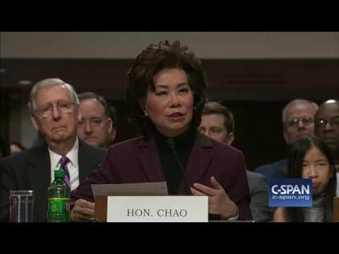 Secretary of Transportation Nominee Elaine Chao Opening Statement C SPAN
