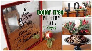 Dollar Tree Pottery Barn Dupes  DIY Christmas Decor