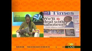 Badwam Newspaper Review on Adom TV (18-8-17)